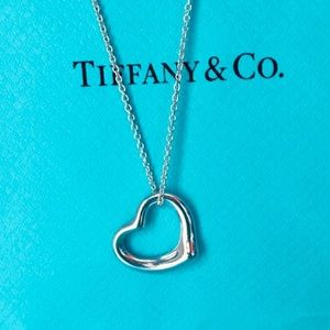 Tiffany & Co. Open Heart Elsa Peretti Necklace